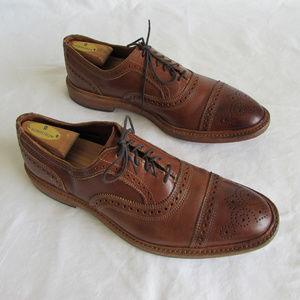 Allen Edmonds Elgin Walnut Leather oxfords  10.5 D